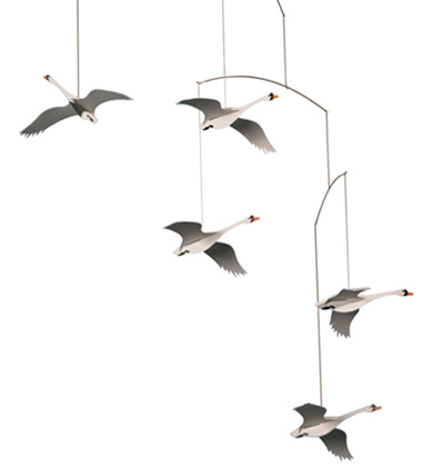 플렌스테드모빌 백조 Flensted Mobiles Scandinavian Swans