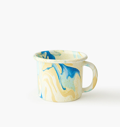본 뉴마블 머그 Bornn Enamelware New Marble Mug Lemon Cream