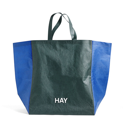 헤이 빅사이즈 쇼핑백 HAY Shopping Bag Two-Tone L Green