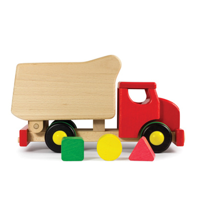 Bajo Tipper Shape Sorter Red 바조 덤프 트럭