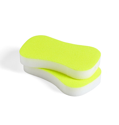 헤이 네온 스펀지 HAY Neon Sponge Set of 2 Fluorescent Yellow
