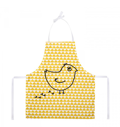라꼬꼬뜨 파리 어린이 앞치마 La cocotte Child's Apron Ochre Chic Chick
