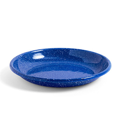 헤이 애나멜 딥 플레이트 HAY Enamel Deep Plate Large Dust. Blue