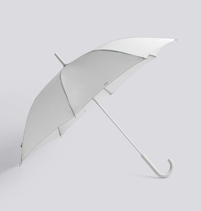헤이우산 라이트그레이 HAY Mono Umbrella Light grey B grade