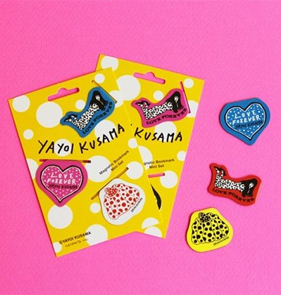 막스 쿠사마 야요이 책갈피 Mark's & yayoi kusama Magnetic Bookmark mini set