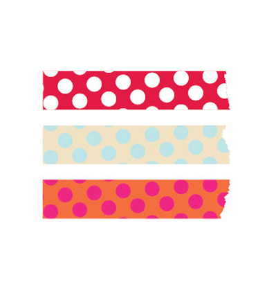 막스 마스킹테이프 Mark's Basic2 Polka dots Masking Tape