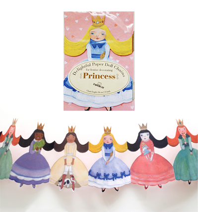 Papercat Paper Doll Chains Princess