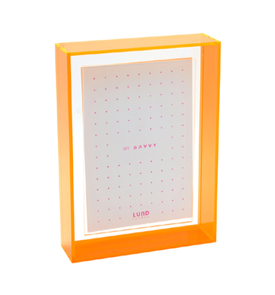 룬드 런던 네온팝 컬러액자 Lund London Flash Blocco 7x5 Floating Frame Orange