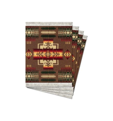 코스터러그 Pendleton chief Joseph Khaki Repeat Coaster Rug-4pcs