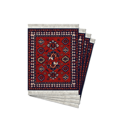 Early Turkmen, Licensed From de Young Museum Coaster Rug-4pcs (코스터러그)