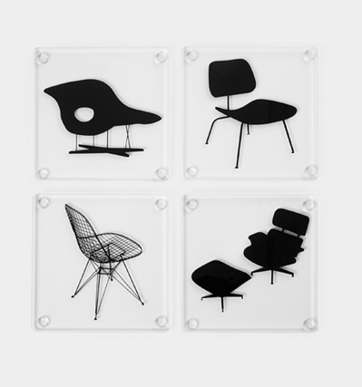 더뮤지엄 모던 아트 임스체어 코스터 The Museum of Modern Art Eames Chair Set of 4 Coasters